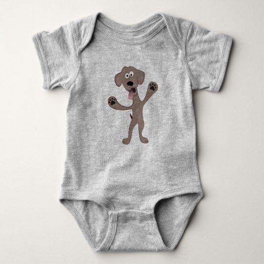 Cartoon Puppy - Critter Baby Bodysuit