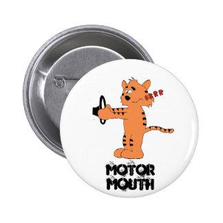 Cartoon Purring Tiger Pinback Buttons