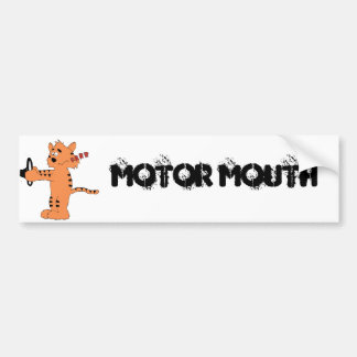 Cartoon Purring Tiger Bumper Sticker
