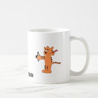Cartoon Purring Tiger Classic White Coffee Mug