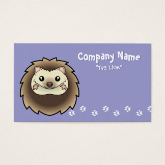 Cartoon Pygmy Hedgehog Business Card