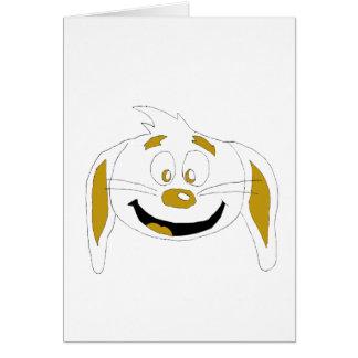 Cartoon Rabbit Hip Hop Fan Greeting Card