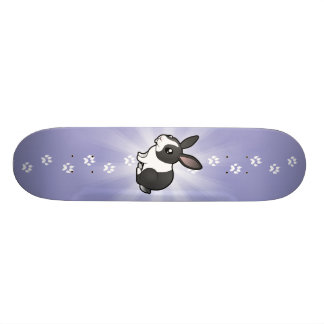 Cartoon Rabbit (uppy ear smooth hair) Skate Board