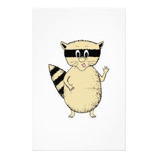 Cartoon Raccoon Stationery