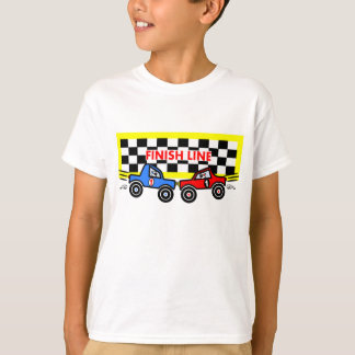 Cartoon Race Cars at Finish Line T-Shirt