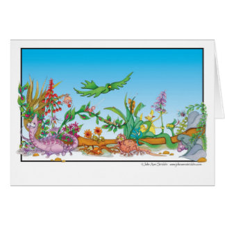 Cartoon Rain forest creatures Julie ann Stricklin Card