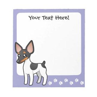 Cartoon Rat Terrier / Toy Fox Terrier Notepad