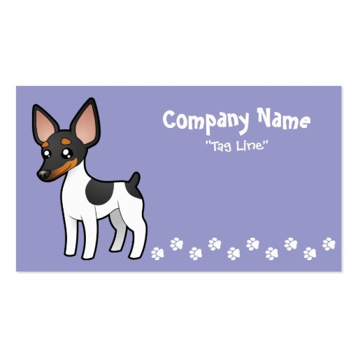 Cartoon Rat Terrier / Toy Fox Terrier Pack Of Standard Business Cards