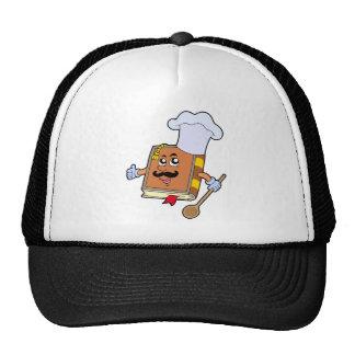 Cartoon recipe book trucker hat