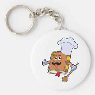 Cartoon recipe book keychain