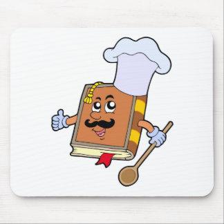 Cartoon recipe book mouse pads