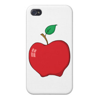 Cartoon Red Apple Case For iPhone 4