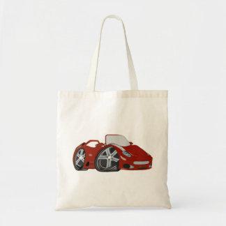 Cartoon Red Car Art Canvas Bags