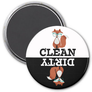 Cartoon Red Hipster Fox Dishwasher Magnet