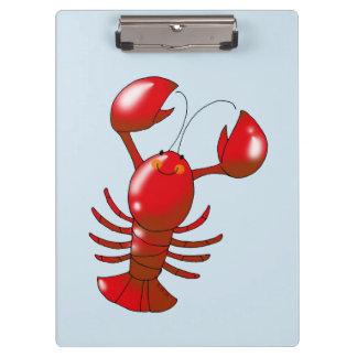 cartoon red lobster clipboard