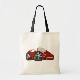 Cartoon Red Sports Car Art Bag