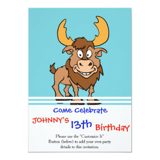 Cartoon reindeer card