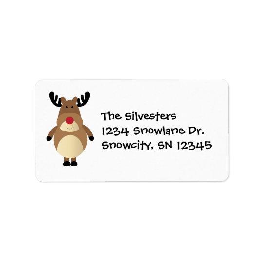 Cartoon Reindeer Holiday Address Avery Label Address Label