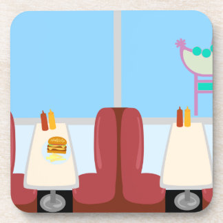 Cartoon Retro Fifties Diner Coasters