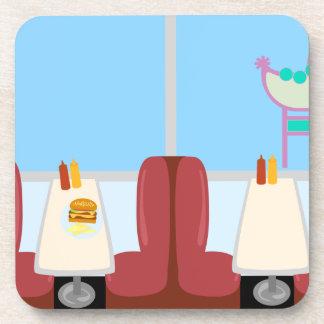 Cartoon Retro Fifties Diner Coasters