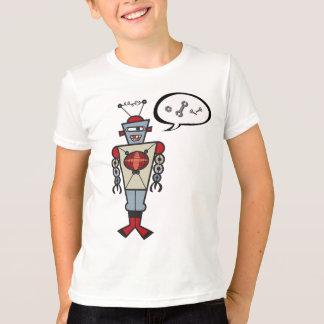 Cartoon Retro Robot Cute Kids Boy Birthday Party T-Shirt