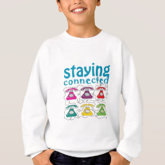 Cartoon Retro Telephones Colorful Funny Connected Sweatshirt