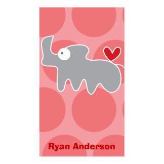 Cartoon Rhino Kid Fun Custom Photo Profile Card Business Card