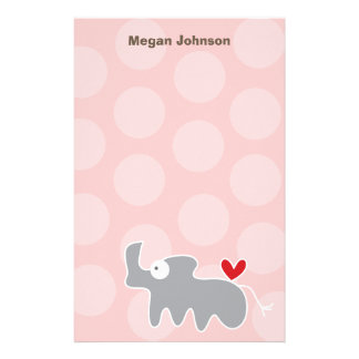 Cartoon Rhino Kid Personal / Thank You Stationery