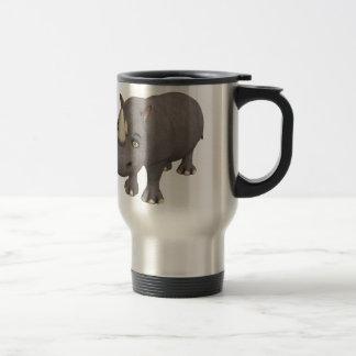 Cartoon Rhino Stainless Steel Travel Mug