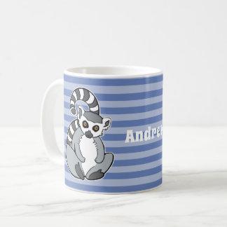 Cartoon Ringtailed Lemur Coffee Mug