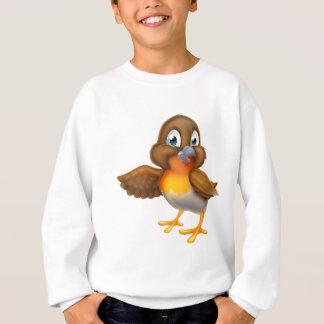 Cartoon Robin Bird Pointing Wing Sweatshirt