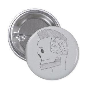 Cartoon Robot 3 Cm Round Badge