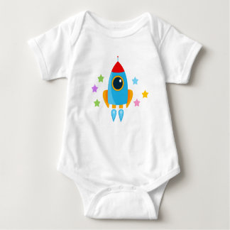 Cartoon Rocket Baby Bodysuit