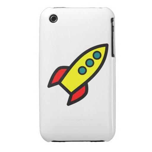 Cartoon Rocket iPhone 3 Cover