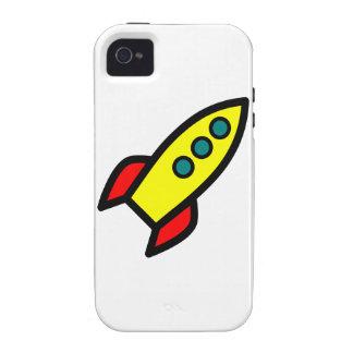 Cartoon Rocket Vibe iPhone 4 Case