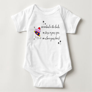cartoon rocket cat inspirational quote bodysuit