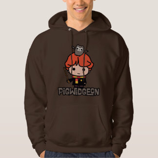 Cartoon Ron Weasley and Pigwidgeon Hoodie