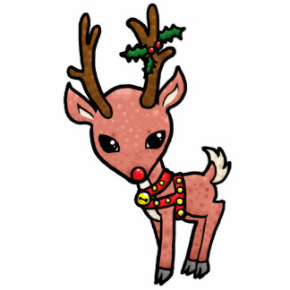 Cartoon Rudolf Christmas Acrylic Cut Out