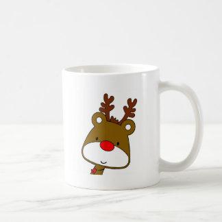 CARTOON RUDOLF CHRISTMAS THEME COFFEE MUG