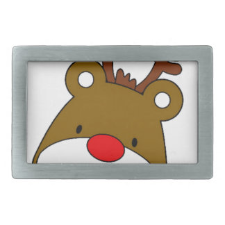 CARTOON RUDOLF CHRISTMAS THEME RECTANGULAR BELT BUCKLE