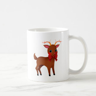 Cartoon Rudolph the Red-Nosed Reindeer w/ Bow Tie Mug
