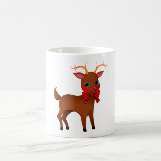 Cartoon Rudolph the Red-Nosed Reindeer w/ Bow Tie Mugs