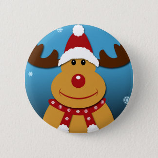 Cartoon Rudolph The Reindeer Christmas Gifts 6 Cm Round Badge