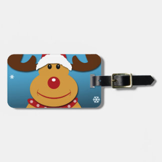 Cartoon Rudolph The Reindeer Christmas Gifts Luggage Tag