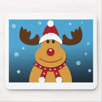 Cartoon Rudolph The Reindeer Christmas Gifts Mouse Pad
