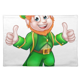 Cartoon Saint Patricks Day Leprechaun Placemat