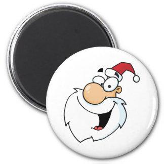 Cartoon Santa Claus Head Magnet