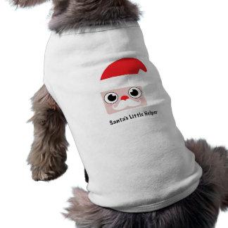 """Cartoon Santa Claus With """"Santa's Little Helper"""" Shirt"""