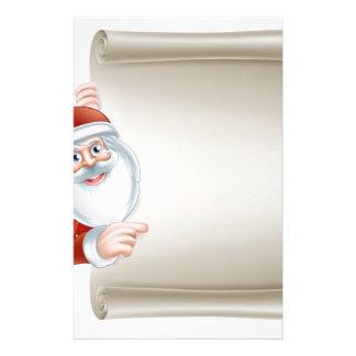 Cartoon santa scroll sign customised stationery