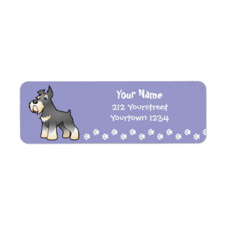 Cartoon Schnauzer Return Address Label